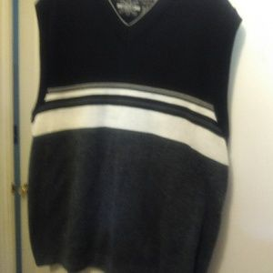 Vest sweater black and gray